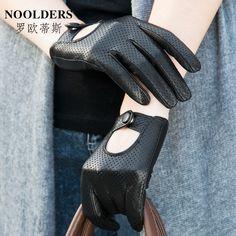 ee20fff042ab Gants en peau de mouton Mode féminine en cuir des gants en cuir véritable  féminine courte