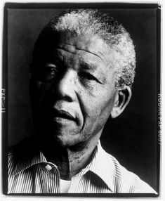 Nelson Mandela (1918-2013) - South African anti-apartheid revolutionary, politician, activist, lawyer, and philanthropist who served as President of South Africa from 1994 to 1999. Photo by Annie Leibovitz, 1990