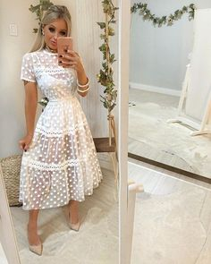 Brunch Outfit, Girls Fashion Clothes, Fashion Dresses, Clothes For Women, Day Wedding Outfit, Classy Gowns, Bohemian Mode, Mini Robes, Casual Dresses