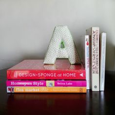 The Pink Doormat: No Sew DIY Fabric Letters.  LOVE!!!