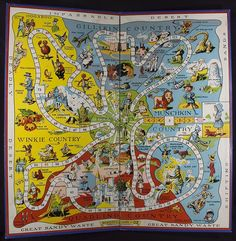 Board from The Wonderful Game of Oz. Salem: Parker Brothers, 1921.