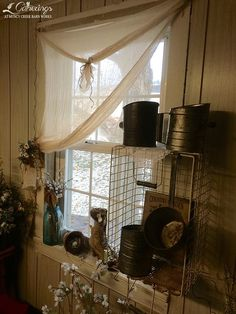 """My """"new"""" t-dyed cheese cloth curtains!"""
