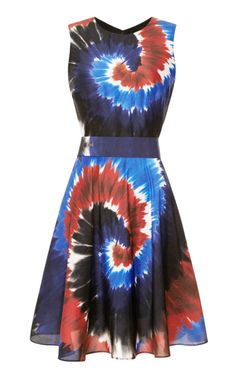 Printed Silk Tie-Dye Belted Dress by Rodarte Now Available on Moda Operandi