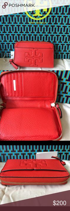 5caffc4b3fb Tory Burch BOMBE T smart Wristlet wallet Brand new with tag Tory Burch Bags  Clutches & Wristlets