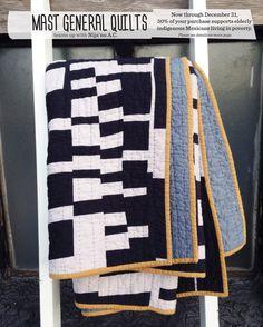 Littleneck throw quilt   black and white handmade hand-sewn improv modern quilt on Etsy, $595.00