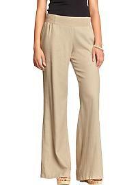 Women's Wide-Leg Linen-Blend Pants