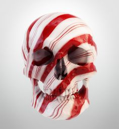 candy cane skull - Google Search