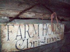 34 Cute Farmhouse Christmas Decor Ideas - New Ideas Primitive Christmas Crafts, Christmas Signs Wood, Holiday Signs, Farmhouse Christmas Decor, Country Christmas, Christmas Projects, Christmas Ideas, Christmas Images, White Christmas