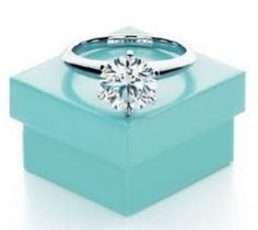 ... getting a ring from Tiffany's but I found the style of the ring in a Tiffany brochure and left this photo around as hints of what style ring I adored:
