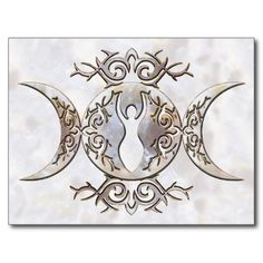 Triple Moon Cards, Triple Moon Card Templates, Postage ...
