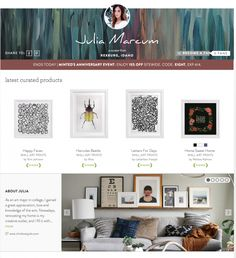 Minted's Newest Curator + 30 of My Favorite Art Prints! Chris Loves Julia, Print Fonts, Home Wall Art, Screen Shot, Wall Art Prints, Sweet Home, Gallery Wall, Mint, Living Room