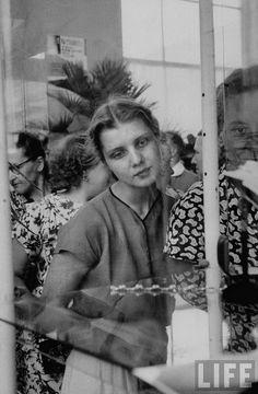 Wistful Russian girl, 1956 by Lisa Larsen