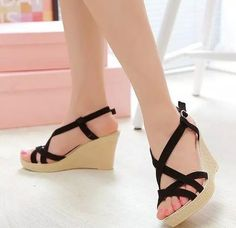 add6a10e216 Trendy Roman Wedge Heel Sandals Cute Wedges Shoes