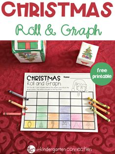 Christmas Roll and Graph Math Activity