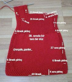 🌹 🌹😊İki üç fotoğraf öncesi bebek yeleğinin sayıla… Sel # selamunaleykum arkadaşlarThree friends who want the numbers of the baby vest before the two three photos 💞 Girls Knitted Dress, Knit Baby Dress, Knitted Baby Clothes, Baby Cardigan, Baby Knits, Easy Knitting Patterns, Knitting For Kids, Baby Knitting, Crochet Baby