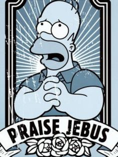 The Simpsons praise Jebus