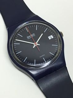 Vintage Swatch Watch Oxford Navy GN401 1985 by ThatIsSoFunny on Etsy
