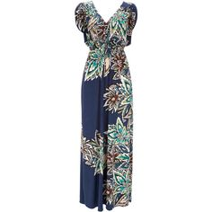 Blue Maxi Dress ($78) ❤ liked on Polyvore
