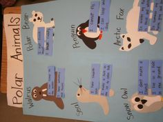 K 1 teaching besties polar animals anchor chart project picture to pin on p Artic Animals, Penguins And Polar Bears, Preschool Themes, Polar Animals Preschool Crafts, Animal Activities, Winter Activities, Animal Habitats, Winter Theme, Ms Gs