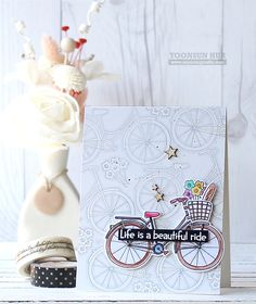 RejoicingCrafts: Life is a beautiful ride! Simon Says Stamp My Favorite Release. Simon Says Stamp Beautiful Ride stamp set. Love Stamps, Clear Stamps, Bicycle Cards, Get Well Cards, Simon Says, Card Sketches, Flower Cards, Cute Cards, Homemade Cards