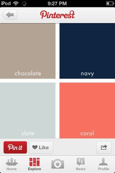 I'm thinking of those sorts of corals for a dining room, perhaps with the blues and a more warm brown tone to match the future table.