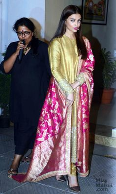Aishwarya Rai Bachchan Is The Epitome Of Class In This Sabyasachi Outfit! Indian Fashion Dresses, Indian Gowns Dresses, Dress Indian Style, Pakistani Dresses, India Fashion, Designer Party Wear Dresses, Kurti Designs Party Wear, Designer Wear, Stylish Dress Designs
