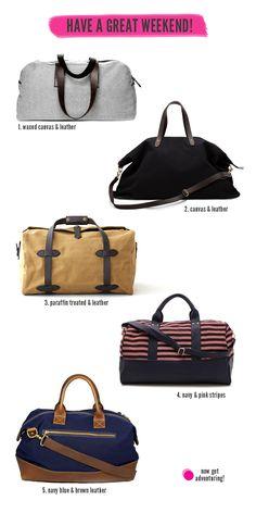 Five Fantastic Weekender Bags // WeAreAdventure.us