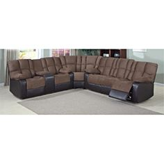 David Dual Reclining Sectional | Overstock.com Shopping - Big Discounts on Sectional Sofas  sc 1 st  Pinterest : stetson sectional - Sectionals, Sofas & Couches