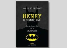 Batman Superhero Birthday Invitation  Custom DIY by TrendyHenry, $12.00