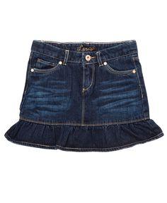 Cute ruffle on this mini! Levi's Kids Skirt, Little Girls Denim Ruffle Scooter - Macy's $14.99