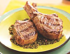 Lamb Chops with Chimichurri Sauce-20 min, 360 Cal, Serves 4