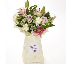 Whatever the occasion, delight and surprise with pretty fresh blooms of pinks and lilacs, beautifully set in our signature Flowercard packaging and delivered to their door.