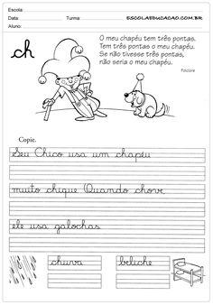 Atividade de caligrafia CH                              …