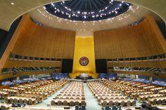 Visita guiada à sede da ONU. Sala da Assembleia Geral. Confira post no blog :)