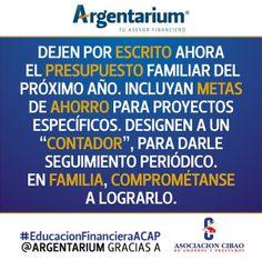 Presupuesto familiar | Argentarium
