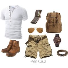 Ruggedly Handsome, created by keri-cruz on Polyvore