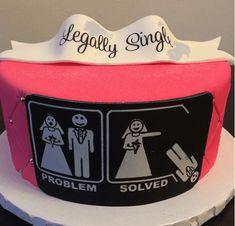 Legally Single divorce cake