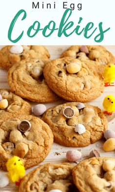 These CRAZY delicious Mini Egg Cookies are the perfect treat! This very simple Easter recipe includes step by step pictures, helpful tips and so much more. Click and see for yourself! Mini Egg Recipes, Easy Easter Recipes, Fun Easy Recipes, Best Cookie Recipes, Easy Desserts, Dessert Recipes, Mini Eggs Cookies, Easy No Bake Cookies, Easy Chocolate Chip Cookies