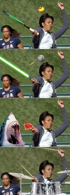 Michelle Obama: which picture is the correct picture? lol