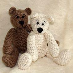 free crochet bear patterns - Google Search