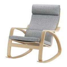 POÄNG Cadeira de baloiço - Isunda cinz - IKEA