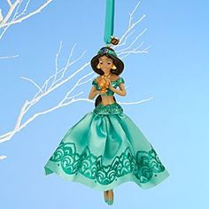 Disney Jasmine Sketchbook Ornament   Disney StoreJasmine Sketchbook Ornament - Frocked in a glittering satin gown, our dazzling Jasmine ornament summons a whole new world of wishes. Dress your holiday tree with this classic Disney dreamer from <i>Aladdin</i>.