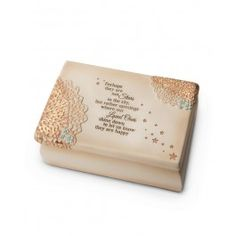"Our beautiful ""Perhaps They are not Stars"" memory box provides a thoughtful and heartfelt remembrance gift that will be treasured for years to come. This remembrance gift is Ideal for special keepsakes, such as a cherished photo, wedding ring, a lock of hair, or other precious item to be tucked away for safe-keeping.   The memory box is adorned with this comforting and soothing poem:  Perhaps they are not Stars in the sky, but rather openings where our Loved Ones shine down to let us ..."