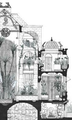 Galeria - Arte e Arquitetura: desenhos arquitetônicos que evidenciam o espaço do Eixo Z - 8