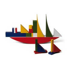 Alma Siedhoff-Buscher (899-1944) – Jeu de construction (1924) produit par les ateliers du Bauhaus.