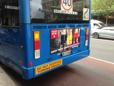 Bus advertising - Route 376, Maroubra Beach to Sydney Central