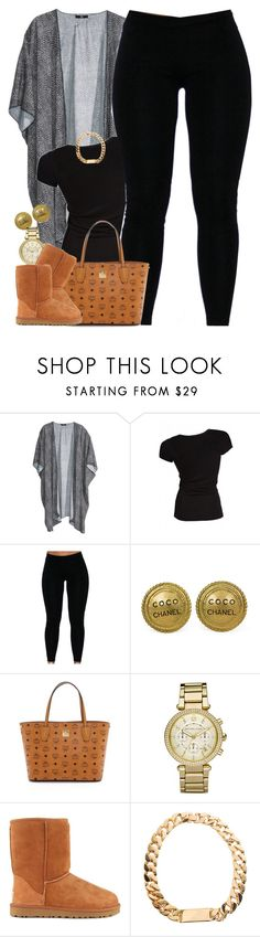 """""""Untitled #1466"""" by power-beauty ❤ liked on Polyvore featuring H&M, Core Spirit, Chanel, MCM, Michael Kors and UGG Australia"""