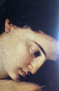 Madonna dei Pellegrini (detail), 1604-1606, by Michelangelo Merisi da Caravaggio (Italian, 1571–1610).