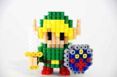 Legend of Zelda Link Perler Beads figure by ToroKuro on Etsy, $20.00
