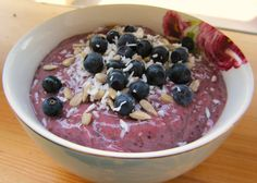 Blueberry-Chia Pudding (no added sugar)